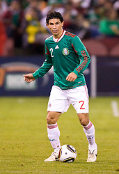 February 24, 2010; San Francisco, CA, USA;  Mexico defender Jonny Magallon (2) during the second half against Bolivia at Candlestick Park. Mexico defeated Bolivia 5-0.