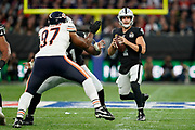 Derek Carr (QB) of the Oakland Raiders during the International Series match between Oakland Raiders and Chicago Bears at Tottenham Hotspur Stadium, London, United Kingdom on 6 October 2019.