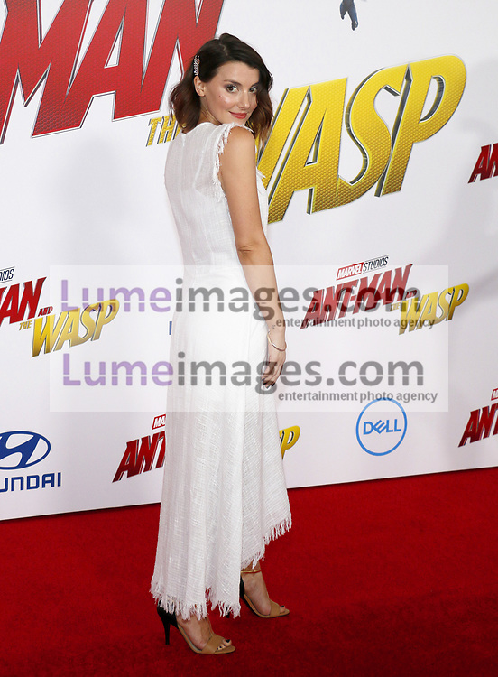 Emma Lahana at the Los Angeles premiere of 'Ant-Man And The Wasp' held at the El Capitan Theatre in Hollywood, USA on June 25, 2018.