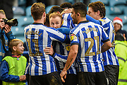 Sheffield Wednesday vice captain Barry Bannan celebrating his team's first goal during the EFL Sky Bet Championship match between Sheffield Wednesday and Bristol City at Hillsborough, Sheffield, England on 22 December 2019.