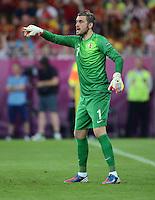 FUSSBALL  EUROPAMEISTERSCHAFT 2012   VORRUNDE Kroatien - Spanien                 18.06.2012 Torwart Stipe Pletikosa (Kroatien)