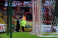Charlton's Michael Morrison  celebrates after he scores his sides 2nd goal.  NPower championship, Bristol city v Charlton Athletic at Ashton Gate stadium in Bristol on Sunday 11th November 2012.  pic by Andrew Orchard, Andrew Orchard sports photography,