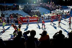 Athletes compete during Women 12,5 km Mass Start at day 4 of IBU Biathlon World Cup 2014/2015 Pokljuka, on December 21, 2014 in Rudno polje, Pokljuka, Slovenia. Photo by Vid Ponikvar / Sportida
