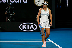 January 17, 2019 - Melbourne, VIC, U.S. - MELBOURNE, AUSTRALIA - JANUARY 17 : Sofia Kenin of ÊUnited States looks towards her coaches box for support during day 4 of the Australian Open on January 17 2019, at Melbourne Park in Melbourne, Australia.(Photo by Jason Heidrich/Icon Sportswire) (Credit Image: © Jason Heidrich/Icon SMI via ZUMA Press)