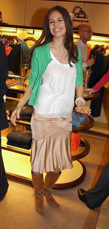 MISS DASHA ZHUKOVA at a party to celebrate the 2nd anniversary of Quintessentially magazine held at Asprey, Bond Street, London on 24th February 2005.<br />