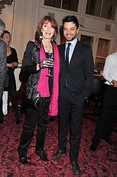 DOMINIC COOPER and his mother JULIA COOPER at the Audi Ballet Evening held at the Royal Opera House, Bow Street, Covent Garden, London on 22nd March 2012.