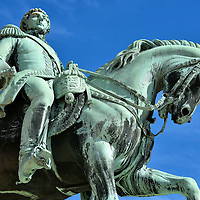 King Charles III John Equestrian Statue in Oslo, Norway <br />