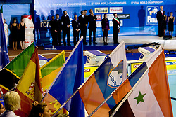 Slovenian flag at the closing ceremony after the 13th FINA World Championships Roma 2009, on August 2, 2009, at the Stadio del Nuoto,  in Foro Italico, Rome, Italy. (Photo by Vid Ponikvar / Sportida)