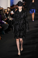 Katlin Aas walks down runway for F2012 Prabal Gurung's collection in Mercedes Benz fashion week in New York on Feb 10, 2012 NYC