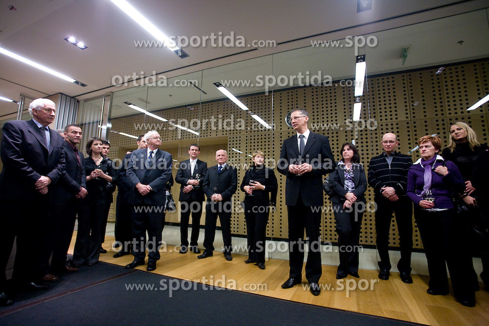 Slovenian Minister for school and sport dr. Igor Luksic before the 45th Awards of Stanko Bloudek for sports achievements in Slovenia in year 2009, on February 9, 2010, Brdo pri Kranju, Slovenia.  (Photo by Vid Ponikvar / Sportida)