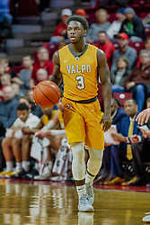 NORMAL, IL - February 05: Daniel Sackey during a college basketball game between the ISU Redbirds and the Valparaiso Crusaders on February 05 2019 at Redbird Arena in Normal, IL. (Photo by Alan Look)