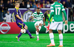 Dare Vrsic of Maribor vs Nani of Sporting when he scores first goal for Sporting during football match between NK Maribor and Sporting Lisbon (POR) in Group G of Group Stage of UEFA Champions League 2014/15, on September 17, 2014 in Stadium Ljudski vrt, Maribor, Slovenia. Photo by Vid Ponikvar  / Sportida.com