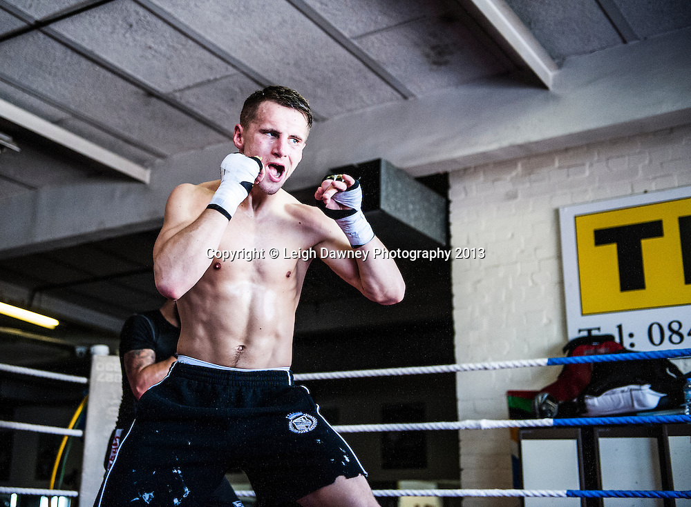 Professional boxer Tommy Martin photo shoot at TKO Gym, Canning Town, London on 21st February 2014. © Leigh Dawney Photography 2013.
