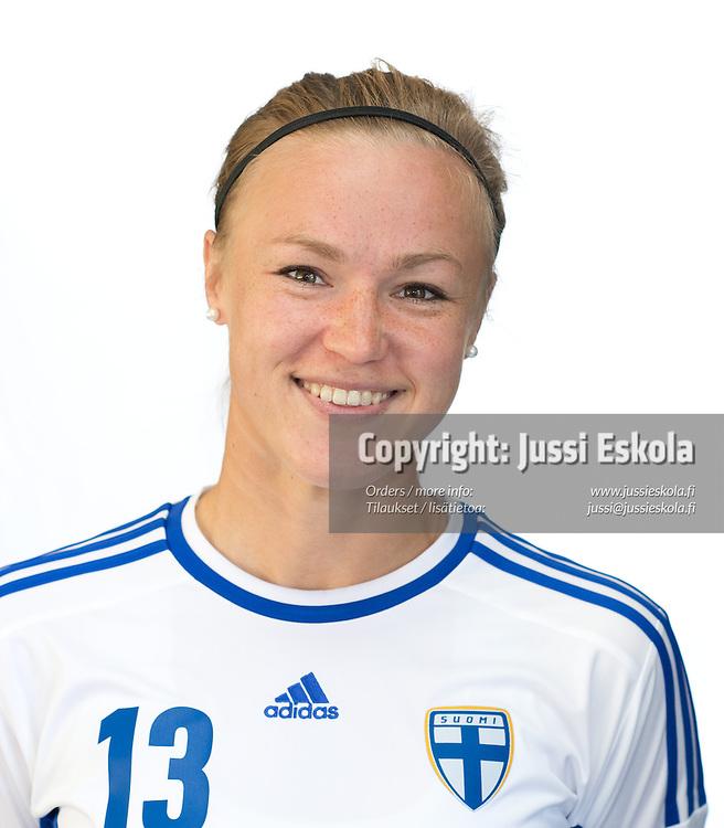 Heidi Kivelä. Naisten maajoukkue. Espoo 18.6.2013. Photo: Jussi Eskola