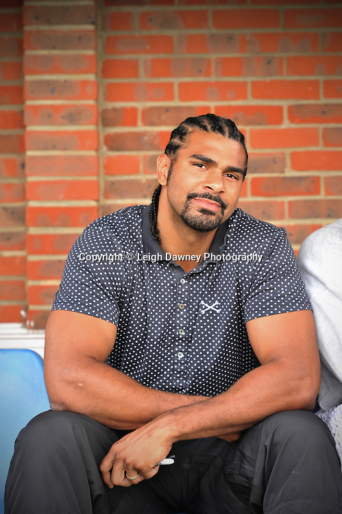 David Haye at The Indee Rose Charity Football Tournament at Canvey Island Football Club on 25th July 2010. www.theindeerosetrust.org. Photo credit: © Leigh Dawney