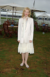 Actress CATE BLANCHETT at the 2005 Cartier International Polo between England & Australia held at Guards Polo Club, Smith's Lawn, Windsor Great Park, Berkshire on 24th July 2005.<br /><br />NON EXCLUSIVE - WORLD RIGHTS
