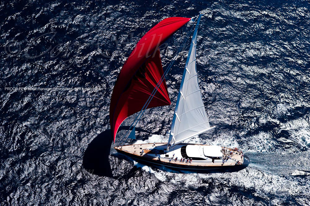 Ganesha sailing in the Loro Piana Superyacht Regatta.