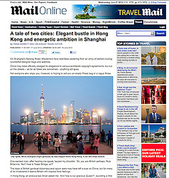 Daily Mail Online; Evening skyline view of Shanghai