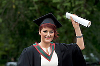 19/06/2014   Lorraine Morrin from Sligo with her Bachelor of Science in Occupational Therapy from NUI, Galway. Photo:Andrew Downes