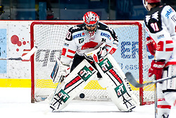 13.10.2015, Ice Rink, Znojmo, CZE, EBEL, HC Orli Znojmo vs HC TWK Innsbruck Die Haie, 11. Runde, im Bild Andy Chiodo (HC TWK Innsbruck) // during the Erste Bank Icehockey League 11th round match between HC Orli Znojmo and HC TWK Innsbruck Die Haie at the Ice Rink in Znojmo, Czech Republic on 2015/10/13. EXPA Pictures © 2015, PhotoCredit: EXPA/ Rostislav Pfeffer