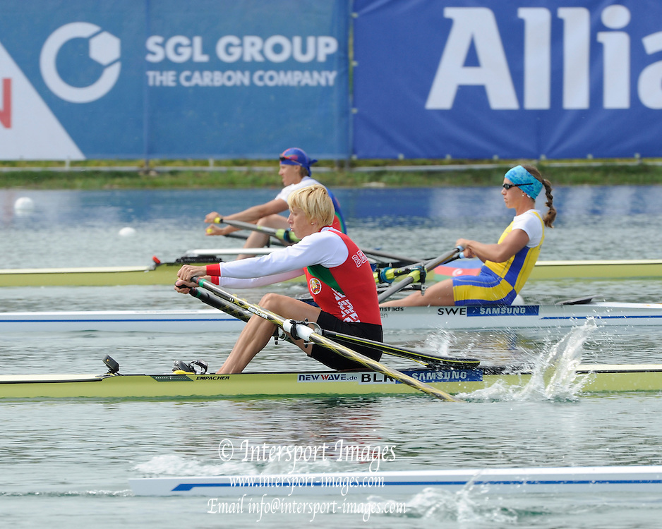 Munich, GERMANY, BLR W1X Ekaterina KARSTEN. start Women's single semi finals  at the FISA World Cup on the Munich Olympic Rowing Course, Saturday  28/05/2011  [Mandatory Credit Peter Spurrier/ Intersport Images].