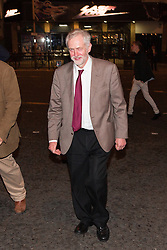 © Licensed to London News Pictures . 29/09/2015 . Brighton , UK . JEREMY CORBYN on the street late this evening (Tuesday 29th September) in Brighton after attending a party at Revolution Bar on West Street . Photo credit : Joel Goodman/LNP
