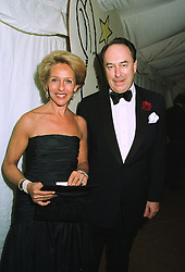 The DUCHESS OF MARLBOROUGH and MR JOHN BOWES-LYON at a ball in London on 24th September 1997.MBM 46
