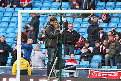 The goal line technology is checked before kick off - Photo mandatory by-line: Matt McNulty/JMP - Mobile: 07966 386802 - 24/01/2015 - SPORT - Football - Manchester - Etihad Stadium - Manchester City v Middlesbrough - FA Cup Fourth Round