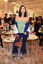 Betty Bachz at a party to celebrate the launch of the new Furla Flagship store, 71 Brompton Road, London England. 2 February 2017.