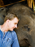 Director of Elephants John Roberts at Anantara Golden Triangle resort.