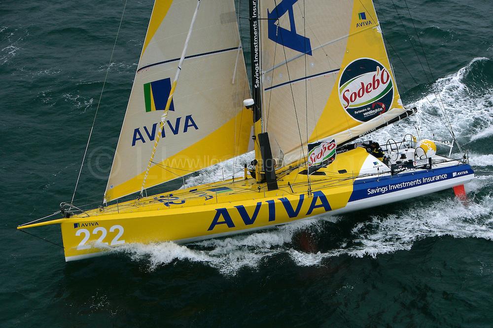 SAILING - ROUND THE WORLD RACE - VENDEE GLOBE 2008/2009 - LES SABLES D'OLONNE (FRA) - 09/11/08 .PHOTO : JEAN MARIE LIOT / DPPI.AVIVA - SKIPPER: DEE CAFFARI (UK)