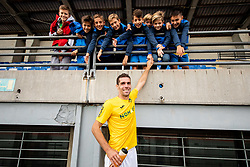 Luka Žinko of Bravo with young  fans after the football match between NK Bravo and NK Celje in 13th Round of Prva liga Telekom Slovenije 2019/20, on October 5, 2019 in ZAK stadium, Ljubljana, Slovenia. Photo by Vid Ponikvar / Sportida