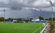 Et kig udover stadion ved indvielsen af Helsingør Kommunes nye stadion på Gl. Hellebækvej i Helsingør den 8. august 2019 (Foto: Claus Birch)
