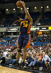 November 8, 2009; Sacramento, CA, USA;  Golden State Warriors forward Corey Maggette (50) shoots against the Sacramento Kings during the first quarter at the ARCO Arena. The Kings defeated the Warriors 120-107.