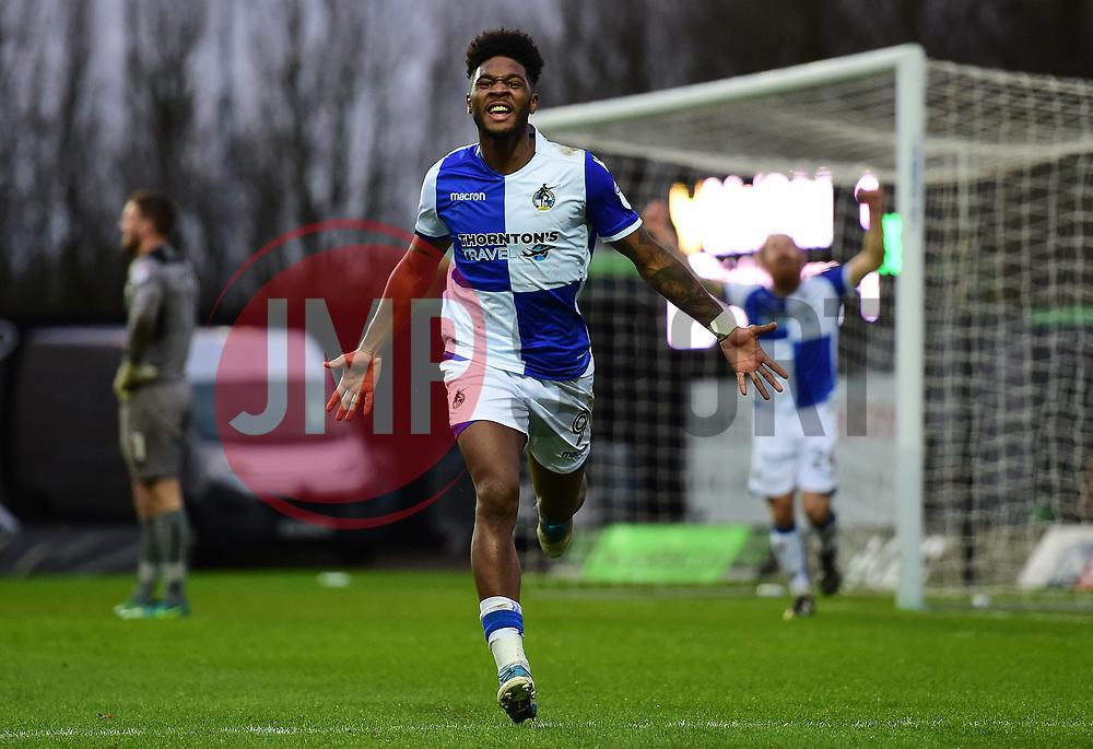 Ellis Harrison of Bristol Rovers celebrates - Mandatory by-line: Alex James/JMP - 10/02/2018 - FOOTBALL - Kassam Stadium - Oxford, England - Oxford United v Bristol Rovers - Sky Bet League One