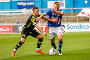 Carlisle United Defender Danny Grainger on the attack during the Sky Bet League 2 match between Carlisle United and Morecambe at Brunton Park, Carlisle, England on 10 October 2015. Photo by Craig McAllister.