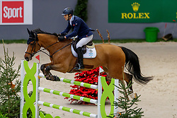 LAROCCA José María jr (ARG), Finn Lente<br /> Genf - CHI Geneve Rolex Grand Slam 2019<br /> Prix des Communes Genevoises<br /> 2-Phasen-Springen<br /> International Jumping Competition 1m50<br /> Two Phases: A + A, Both Phases Against the Clock<br /> 13. Dezember 2019<br /> © www.sportfotos-lafrentz.de/Stefan Lafrentz