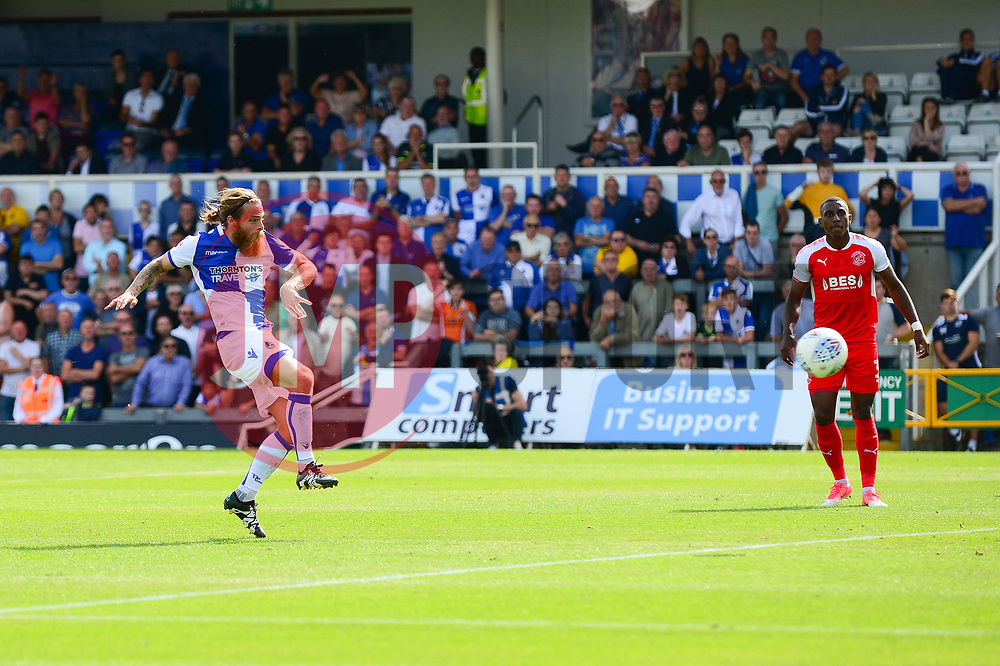 Stuart Sinclair of Bristol Rovers scores to make it 1-0 - Mandatory by-line: Dougie Allward/JMP - 26/08/2017 - FOOTBALL - Memorial Stadium - Bristol, England - Bristol Rovers v Fleetwood Town - Sky Bet League One