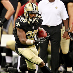 August 25, 2012; New Orleans, LA, USA; New Orleans Saints running back Travaris Cadet (39) against the Houston Texans during the second half of a preseason game at the Mercedes-Benz Superdome. The Saints defeated the Texans 34-27.  Mandatory Credit: Derick E. Hingle-US PRESSWIRE