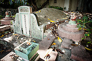 Philippines, Manila. Old  turtle tomb at the Chinese Cemetery.