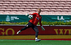 LOS ANGELES, USA - Sunday, May 27, 2018: Wales' goalkeeper Adam Davies during a training session at the Rose Bowl ahead of the International friendly match against Mexico. (Pic by David Rawcliffe/Propaganda)
