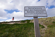 Sylt, Germany. Hörnum. Forbidden to scale the dunes!
