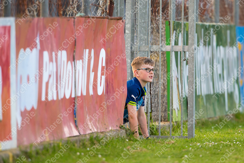 A supporter gets a better view of the U14A Finals at Cusack Park
