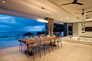 Indoor dining at Lime Villa 4, a luxury private, ocean view villa, Koh Samui, Surat Thani, Thailand