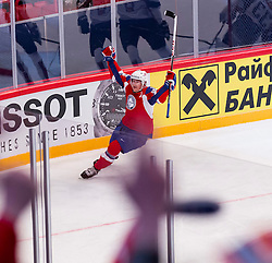 04.05.2013, Globe Arena, Stockholm, SWE, IIHF, Eishockey WM, Slowenien vs Norwegen, im Bild Norway 20 Anders Bastiansen jubel // during the IIHF Icehockey World Championship Game between Slovenia and Norway at the Ericsson Globe, Stockholm, Sweden on 2013/05/04. EXPA Pictures © 2013, PhotoCredit: EXPA/ PicAgency Skycam/ Johan Andersson *****ATTENTION - OUT OF SWE *****