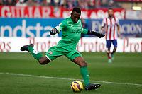 Malaga´s goalkeeper Kameni during 2014-15 La Liga match between Atletico de Madrid and Malaga at Vicente Calderon stadium in Madrid, Spain. November 22, 2014. (ALTERPHOTOS/Victor Blanco)