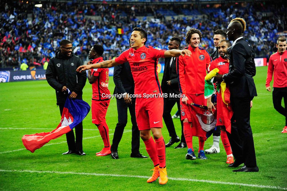 Victoire du PSG /  MARQUINHOS - 11.04.2015 -  Bastia / PSG - Finale de la Coupe de la Ligue 2015<br />Photo : Dave Winter / Icon Sport