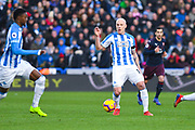 Aaron Mooy of Huddersfield Town (10) in action during the Premier League match between Huddersfield Town and Arsenal at the John Smiths Stadium, Huddersfield, England on 9 February 2019.