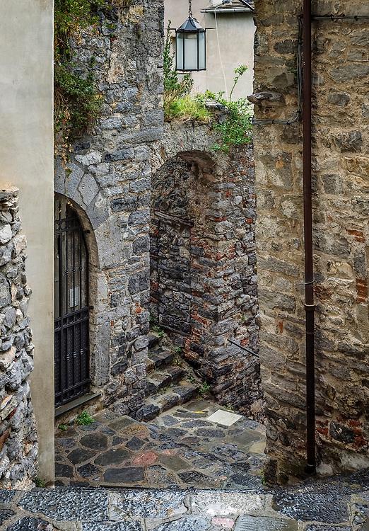 Old city alley, Porto Venere, Italy.