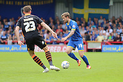 Tom Beere midfielder for AFC Wimbledon (16) in action during Sky Bet League 2 match between AFC Wimbledon and Newport County at the Cherry Red Records Stadium, Kingston, England on 7 May 2016. Photo by Stuart Butcher.